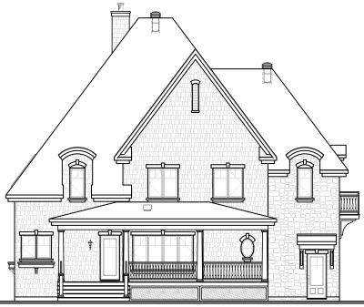 Rear Elevation Plan: 5-721