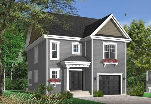 Colonial Style Home Design Plan: 5-722