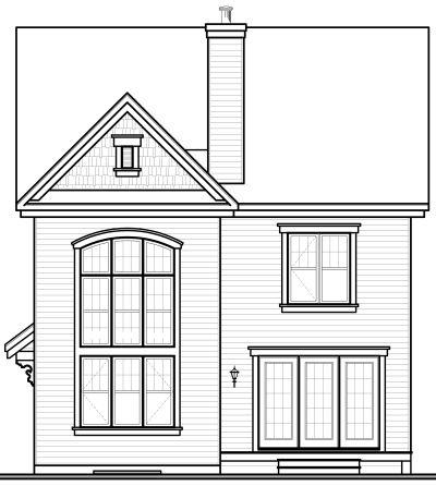 Rear Elevation Plan: 5-722