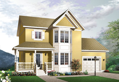 Country Style Floor Plans Plan: 5-723