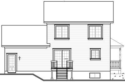 Rear Elevation Plan: 5-723