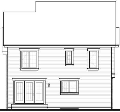 Rear Elevation Plan: 5-724