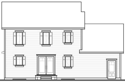 Rear Elevation Plan: 5-725