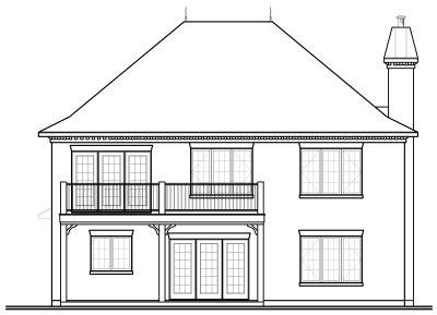 Rear Elevation Plan: 5-726