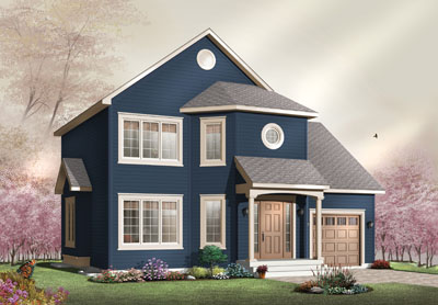 Traditional Style Home Design Plan: 5-727