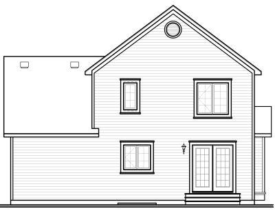 Rear Elevation Plan: 5-727