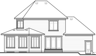 Rear Elevation Plan: 5-728