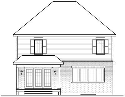Rear Elevation Plan: 5-730