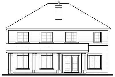 Rear Elevation Plan: 5-731