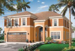 Florida Style Home Design Plan: 5-731