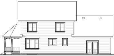 Rear Elevation Plan: 5-732