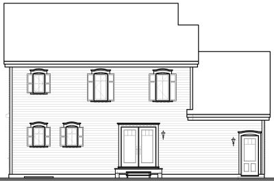 Rear Elevation Plan: 5-733