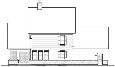 Rear Elevation Plan: 5-734