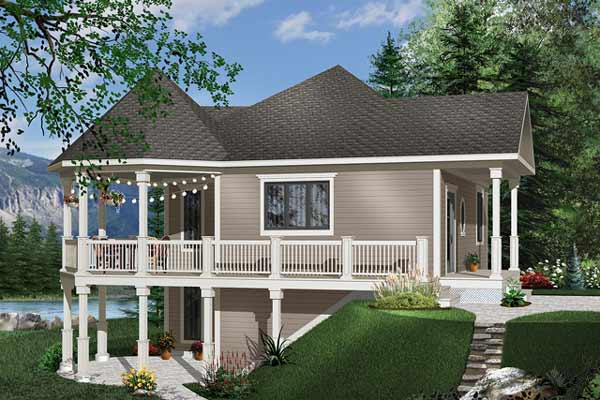 Wondrous Waterfront House Plan 1 Bedrooms 1 Bath 840 Sq Ft Plan 5 735 Home Interior And Landscaping Fragforummapetitesourisinfo