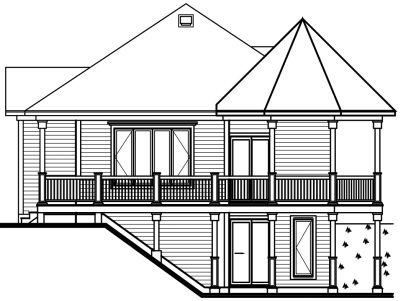 Rear Elevation Plan: 5-735