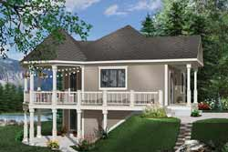 Waterfront Style Home Design Plan: 5-735