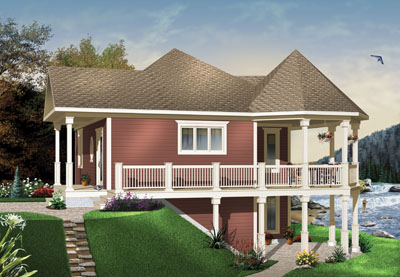Waterfront Style House Plans Plan: 5-736