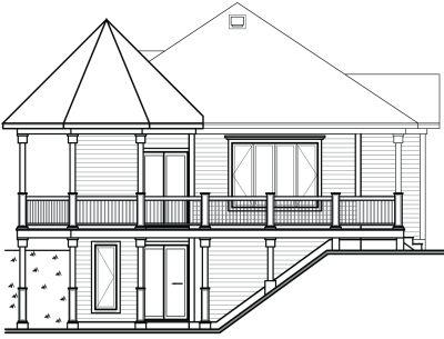 Rear Elevation Plan: 5-736