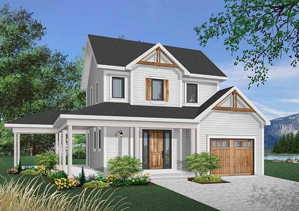 Farm Style Home Design Plan: 5-737