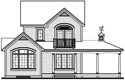Rear Elevation Plan: 5-737