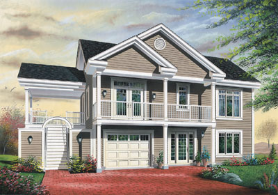 Traditional Style Home Design Plan: 5-740