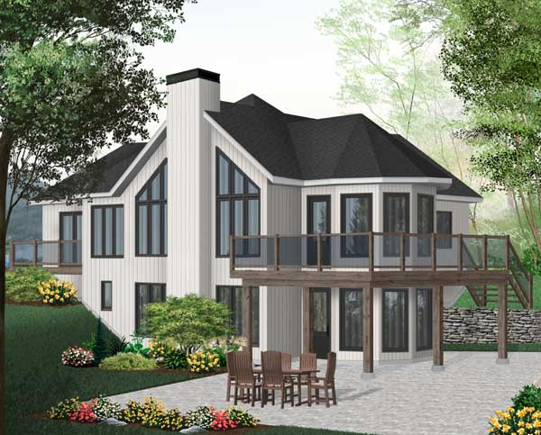 Waterfront Style Floor Plans Plan: 5-742
