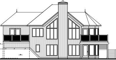 Rear Elevation Plan: 5-742