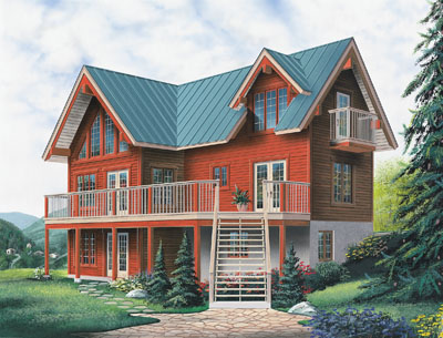 Contemporary Style Floor Plans Plan: 5-743