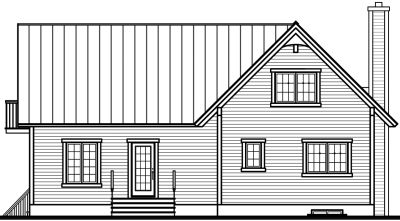Rear Elevation Plan: 5-743