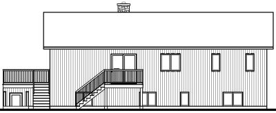Rear Elevation Plan: 5-744