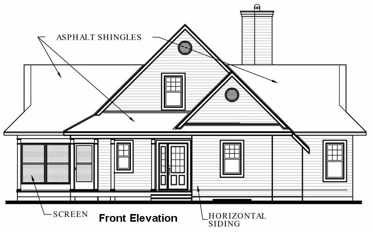 Rear Elevation Plan: 5-745