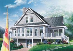 Coastal Style Home Design Plan: 5-745