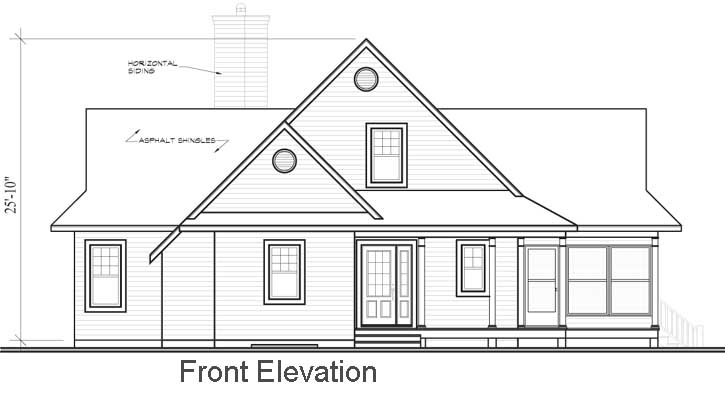 Rear Elevation Plan: 5-746