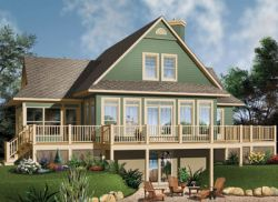 Waterfront Style Home Design 5-746