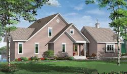 Traditional Style Home Design Plan: 5-748