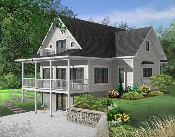 Waterfront Style House Plans Plan: 5-749