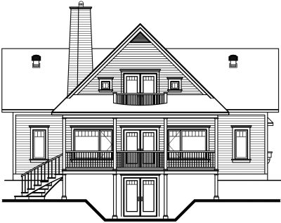 Rear Elevation Plan: 5-749