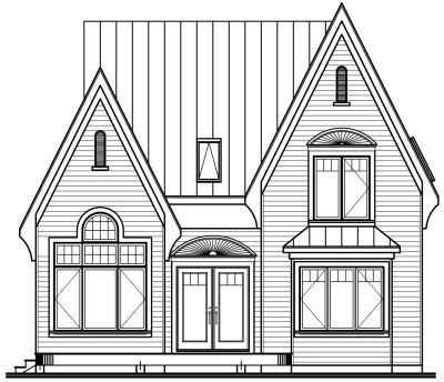 Rear Elevation Plan: 5-750