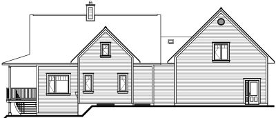 Rear Elevation Plan: 5-751