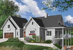 Country Style Home Design Plan: 5-751