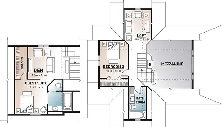 Upper/Second Floor Plan: 5-751