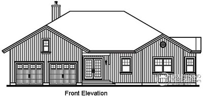 Rear Elevation Plan: 5-753