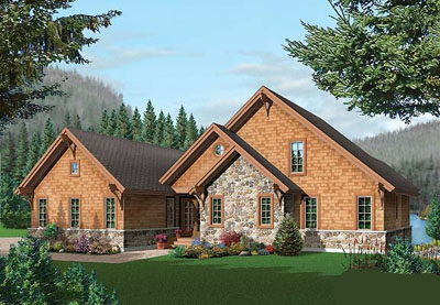 Shingle Style House Plans Plan: 5-754