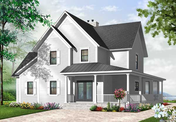 Country Style Home Design Plan: 5-755