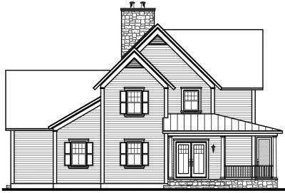 Rear Elevations Plan:5-755