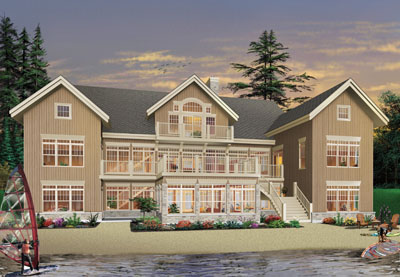 Waterfront Style House Plans 5-757