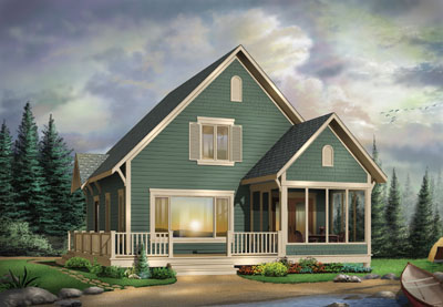 Country Style Floor Plans Plan: 5-758