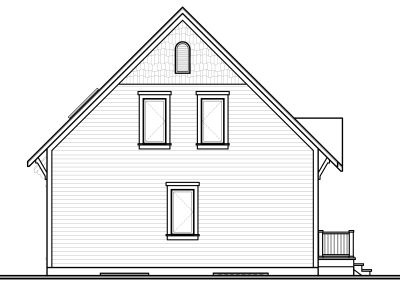 Rear Elevation Plan: 5-758
