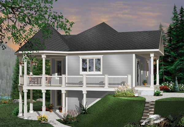 Cottage Style Home Design Plan: 5-759