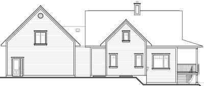 Rear Elevation Plan: 5-760